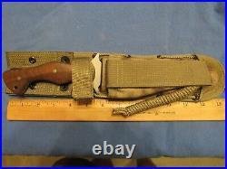 Custom Handmade Knife. James Scroggs.'On You Six' Large Fighter Unused. Mint