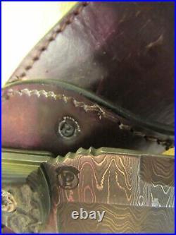 Custom Handmade Knife. Larry Pridgen Damasteel G-10 Fighter. Unused. Excellent