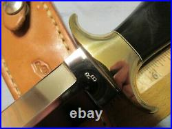 Custom Handmade Knife. Ray Beers Dagger c. 1980s. Unused. Excellent++