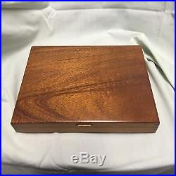 Cutco No. 59 Steak Table Knife 8 Piece Set Wood Grain Handles With Storage Case