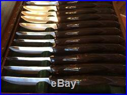 Cutco knives set of 16 #1759 with wooden storage case