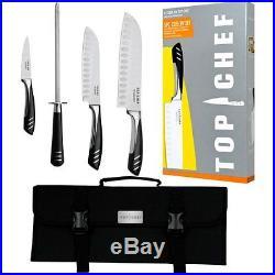 Cutlery Knife Kit 5pc Case House Cut Food Dish Flatware Bag Storage Portable Joy