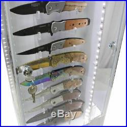 DEFENDER Rotating 52 Pocket Knife 4 Sided LED Lighted Locking Store Display Case