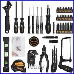 DEKO 218-Piece Household Hand Tool kit with Portable Plastic Storage Case