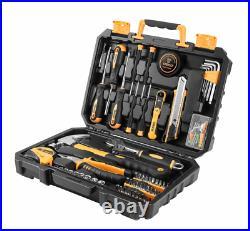 DEKOPRO 100 Piece DIY Household Kit Tool Set With Plastic Toolbox Storage Case