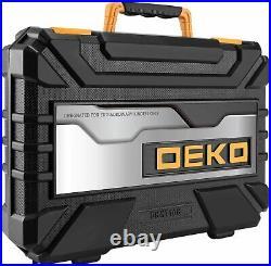 DEKOPRO 168 Piece Auto Repair Tool Combination Household Tools with Storage Case