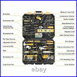 DEKOPRO 168 Piece Socket Wrench Auto Repair Tool Combination Package Mixed To