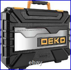 DEKOPRO 208 Piece General Household Hand Tool Kits with Plastic Storage Case