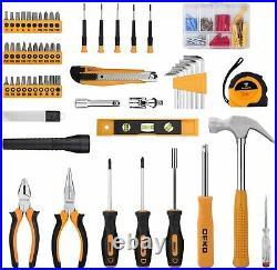DEKOPRO 208 Piece Tool Set, Hand Tool Kit with Plastic Toolbox Storage Case