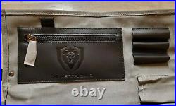 Dalstrong Nomad Knife Roll Canvas/Leather 13 slots Storage/ Case. Free Ship