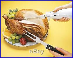 Electric Carving Knife Bread Slicer Stainless Steel Blade Storage Case Kitchen