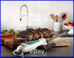 Electric Carving Knife Steel Blade Meat Slicer Fork Storage Case Kitchen Gadgets