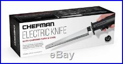 Electric One Touch Knife 8Stainless Steel Blades+Carving Fork, Storage Case
