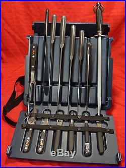 F. Dick 14-Piece Knife Set storage hard case with arm strap. NEW