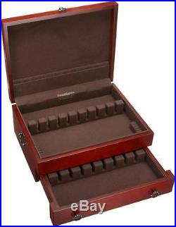 Flatware Chest Silver Storage Case Holds 210 Pieces Knives Spreaders Mahogany
