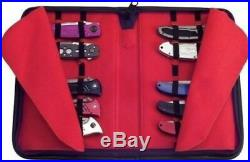 Folding Pocket Knife Storage Carrying Collection Display Case Holds 16 Knives Ii