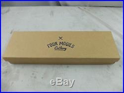 Four Mogils 8 Chef Knife & Wooden Cutting Board/Storage Case Kitchen Set
