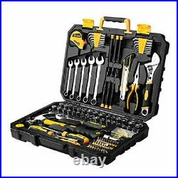 General Household Hand Tool Kit 158 Piece Tool Set with Toolbox Storage Case
