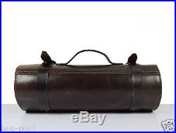 Genuine leather knife storage roll chefs bag cutlery holder case valentine gift