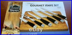 Gourmet Traditions Commercial Series 6 Piece Knife Set with Storage Case