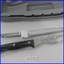 Hamilton Beach Electric Knife Carving Meats Bread Crafting Foam Case Fork Set