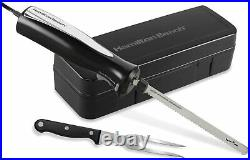 Hamilton Beach Set Electric Carving Knife, Storage Case and Serving Fork Include