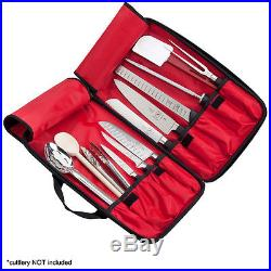 Hard Knife Case Bag 11 Pocket Cutlery Storage Culinary Art Student Transport Kit