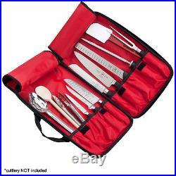 Hard Knife Case Bag 11 Pocket Storage Transport Cutlery Culinary Art Student Kit