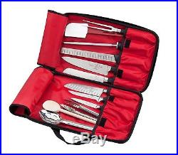 Hard Knife Case Storage Bag Chef Carrying Protector Travel Cutlery Holder Roll