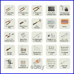 Household Tool Kit 256 Piece Box Socket Set Storage Case DIY Project