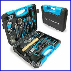 Household Tool Set Kit with Plastic Storage Case (117 PCS)