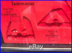 Imperial Pocket Knife Glass Front Store Display Case Jack Master/ Tradesman