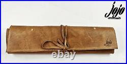 JOJO HANDCRAFTE Leather Knife Roll Case(5 pockets)Kitchen Tool Storage MUSHROOM
