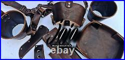 JOJO HANDCRAFTE Leather Knife Roll Case(5 pockets)Kitchen Tool Storage Organizer