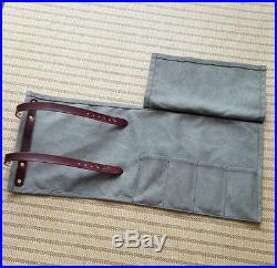 Japanese Chef Knife Roll Bag Canvas Leather Chef knife Storage Case Carry Wallet