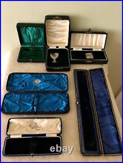 Joblot Storage Cutlery Cases Boxes Solid Silver Spoons Forks Knives Cruet Set