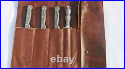 Jojo Handicraft Leather Knife Roll Case(5 pockets)Kitchen Tool Storage Organizer