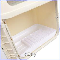 Khaki Kitchen Holder Rack Cupboard Storage Box Tableware Cutlery Storage Case