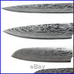 Kitchen Assorted Cutlery Knife Set Steel Blade Wood Case with Storage Case 5-Piece