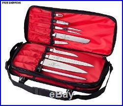 Kitchen Knife Storage Bag Carrying Case Pocket Holder Magnetic Block Display New