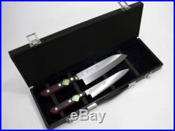 Kitchen knife attache case containing Santoku Petty storage case sharpness Japan