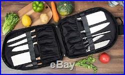 Knife Bag Chef Case Kitchen Utensils Storage Carrier 11 Slots Water-resistant