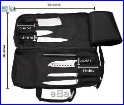 Knife Bag Pocket Carrying Case Chef Storage Organizer wirth Shoulder Strap New