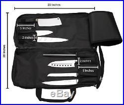Knife Bag Pocket Carrying Case Chef Storage Protector Organizer Kitchen Utensil