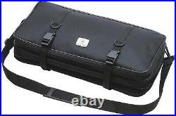 Knife Case 21 Pocket Triple-Zip Bag Tool Storage Transport Kit Carry Holder