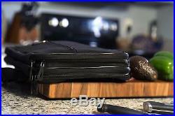 Knife Case Carry Chef Roll Bag Kitchen Utensils Storage 28 Pockets Card Holder