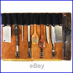 Knife Cases Holders & Protectors Leather Roll Storage Bag Elastic And Expandable