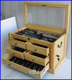 Knife Display Case Storage Cabinet, Shadow Box Top, Table Top Cabinet KC07-NAT