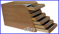 Knife Display Case Storage Cabinet with Shadow Box Top, Tool Box, K001C Natural