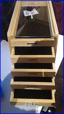 Knife Display Case Storage Cabinet with drawers